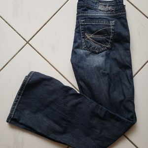 Silver twisted bootcut jeans 29 x 31 buckle